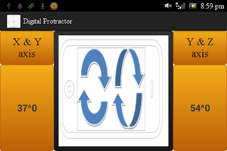 Digital Protractor 1.0 screenshot 1