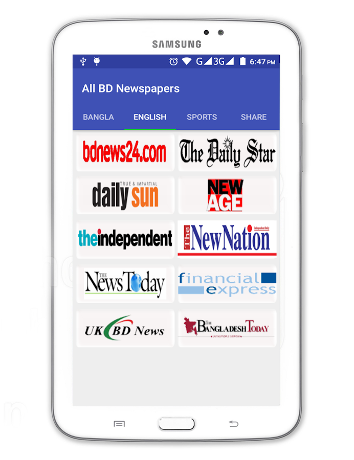 All BD Newspapers 2 5 9 APK Download - Android News & Magazines