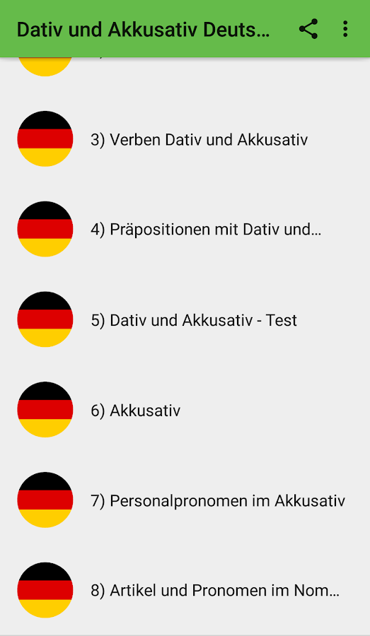 Learn German Verbs with Dative and Accusative 1.1 APK Download ...