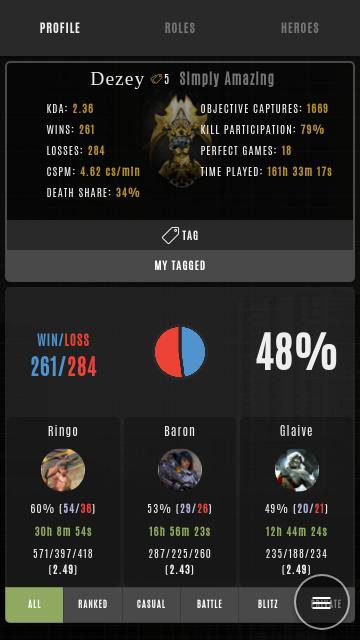 Halcyon Elite Vainglory Stats 1 9 0 APK Download - Android