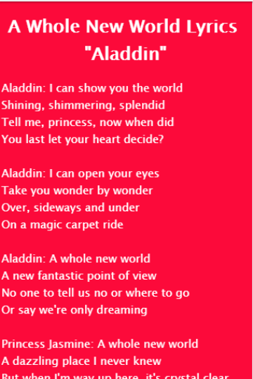 A Whole New World Aladdin 10 Apk Download Android Music Audio