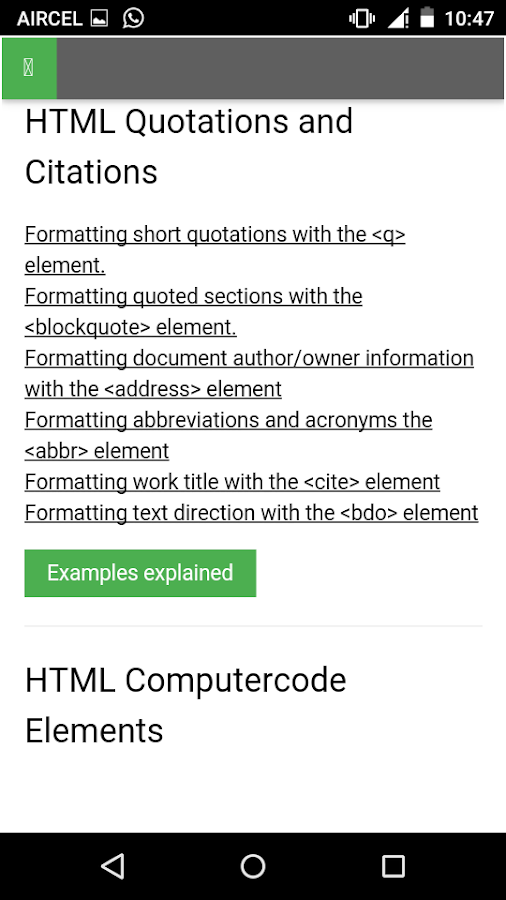 Learn HTML Code, Tags & CSS 1 6 APK Download - Android Education Apps