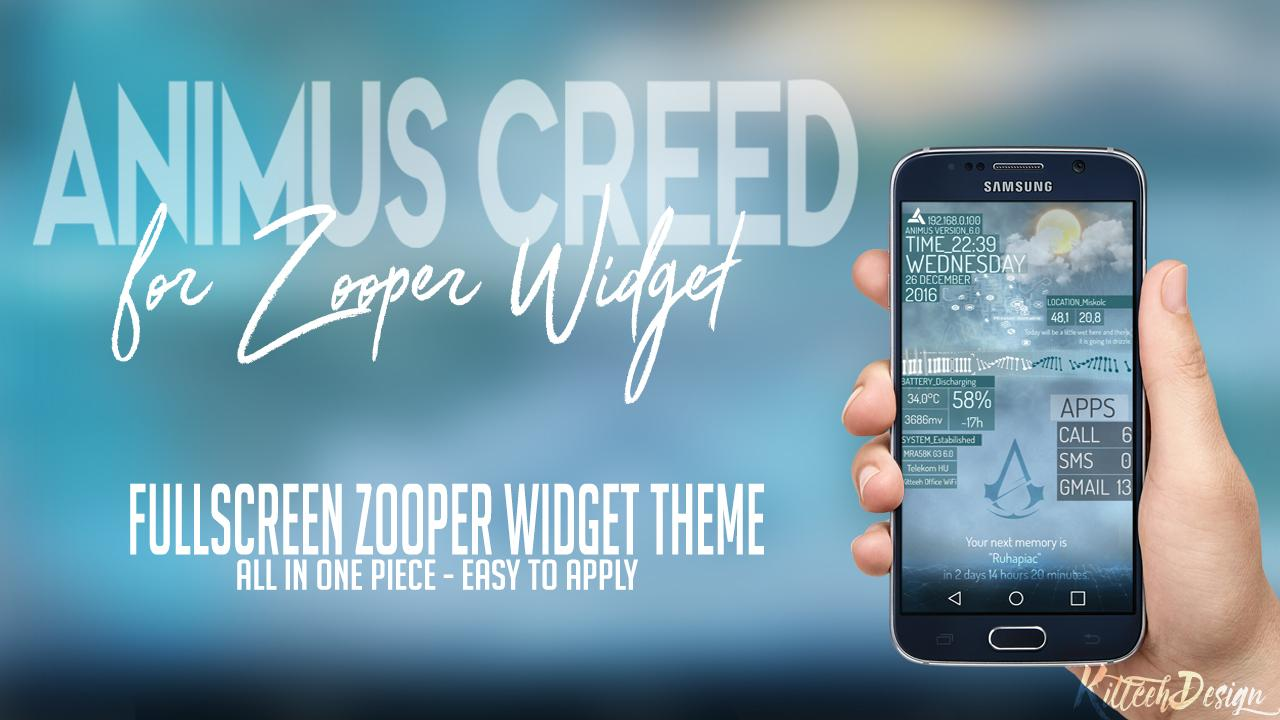 Animus Creed Zooper Widget 1 00 APK Download - Android