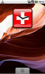 Switzerland Flag Clock Widget 1.0 screenshot 2
