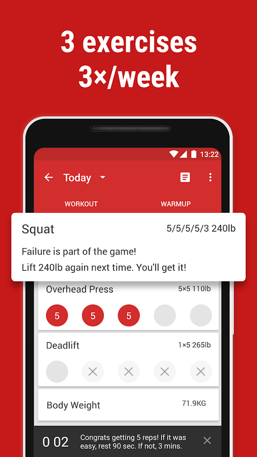stronglifts 5x5 weight lifting gym workout log apk download