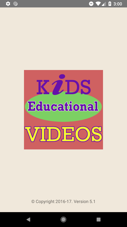 Educational Videos For Kids 5 1 APK Download - Android