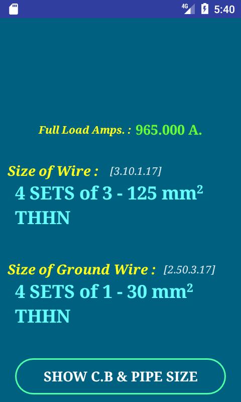 Pec conductor size calc free 60 apk download android tools apps pec conductor size calc free 60 screenshot 1 keyboard keysfo Choice Image