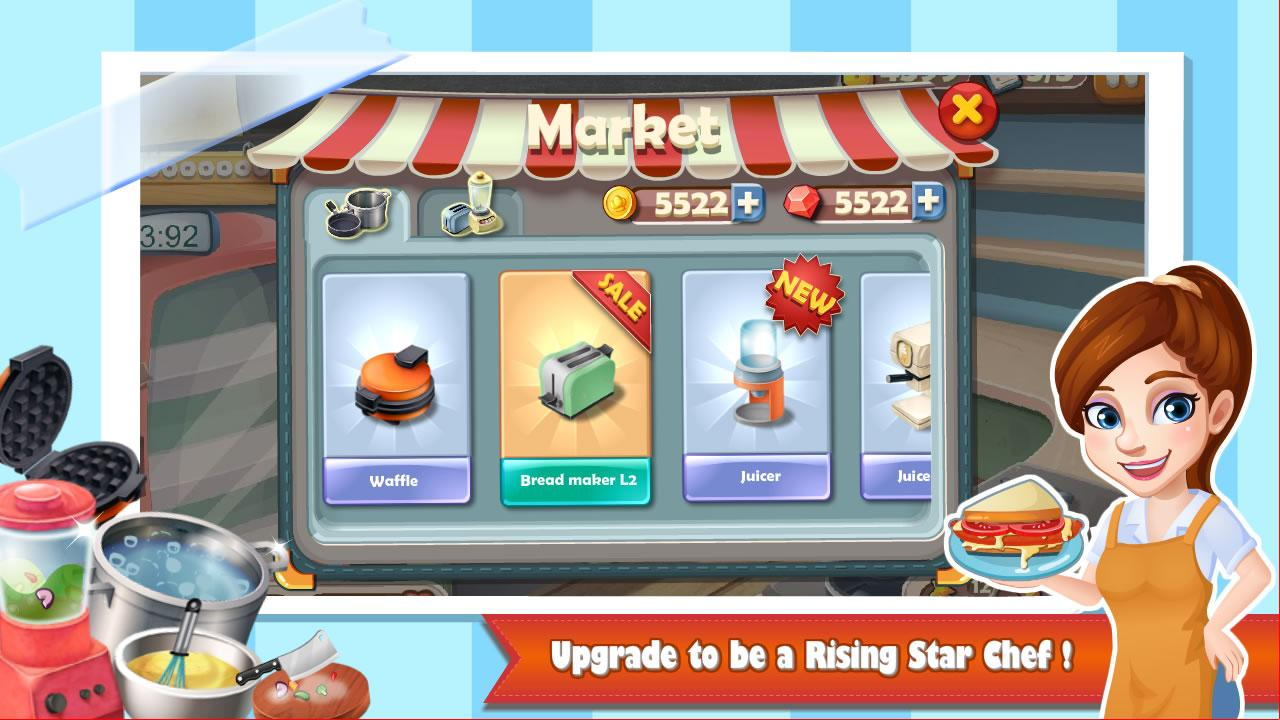 Rising Super Chef:Cooking Game 1.9.0 APK Download - Android Casual Games