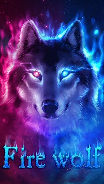 Fire Wolf Theme Ice Wallpaper HD 395 Screenshot 1