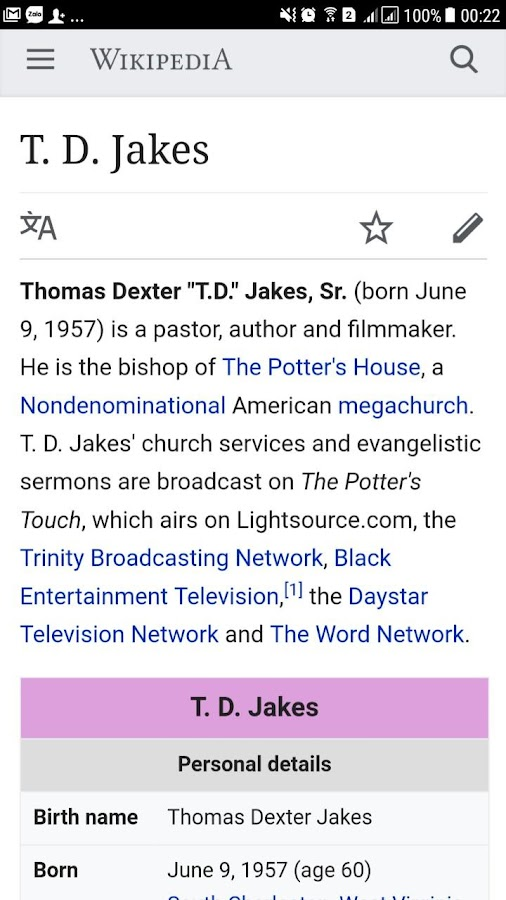 T D  Jakes Daily Sermons 1 0 4 APK Download - Android Lifestyle Apps
