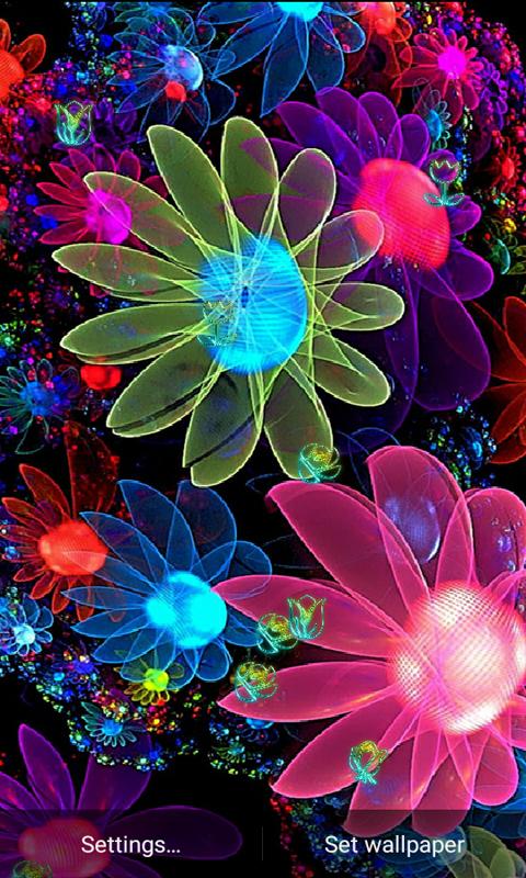 Z4 Neon Flower Wallpaper 10 Screenshot 4