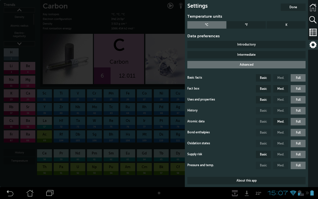Periodic table 140 apk download android education apps periodic table 140 screenshot 15 urtaz Images