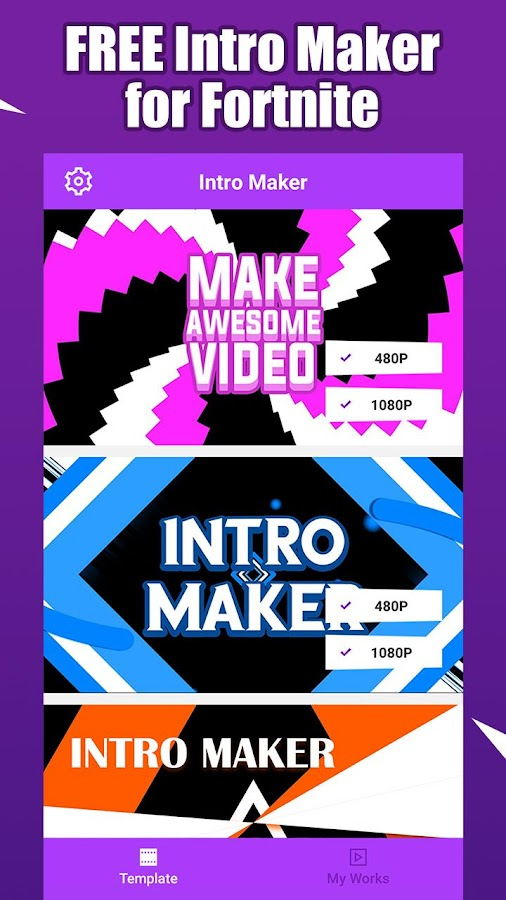 Fort Intro Maker For Youtube Make Fortnite Intro 1 2 3 Apk