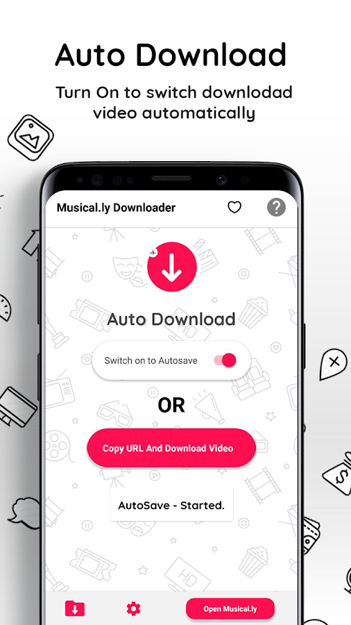 Video Downloader For Musically : m ly Save Videos 1 0 1 APK Download