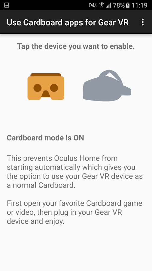 Use Cardboard apps for Gear VR 1 3 APK Download - Android Tools Apps