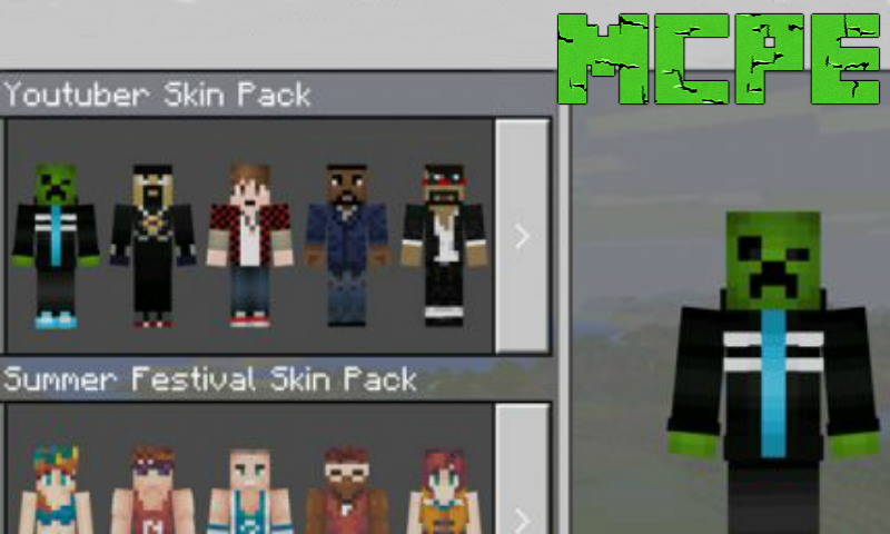 Mobs Skin Pack For Minecraft PE APK Download Android Books - Skins para minecraft pe tablet
