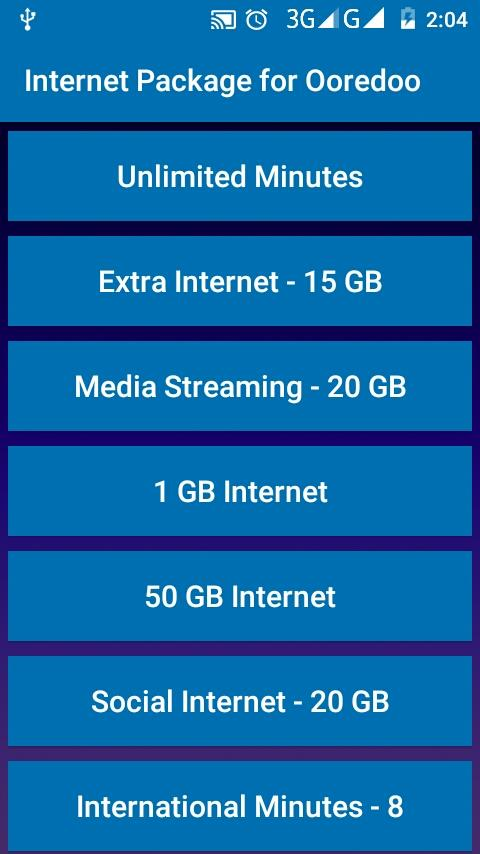Internet Package for Ooredoo 18 7 31 APK Download - Android Связь
