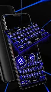 Black Blue Business Keyboard Theme 10001002 screenshot 1