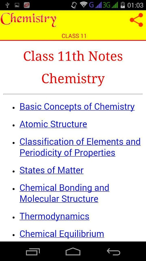 Class 11 Chemistry Notes 6 6 APK Download - Android