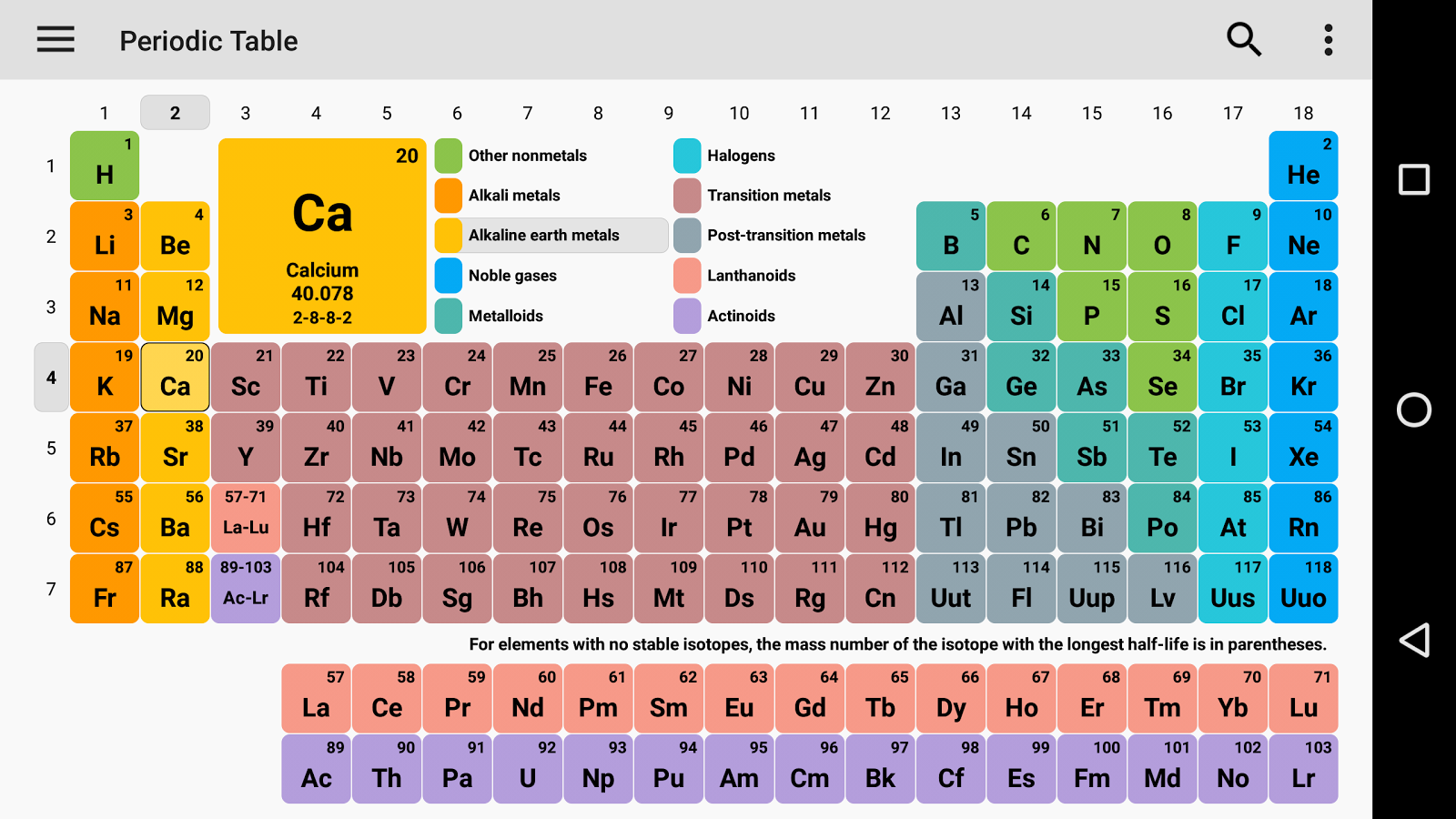 Periodic table 2018 chemistry in your pocket 630 apk download periodic table 2018 chemistry in your pocket urtaz Choice Image