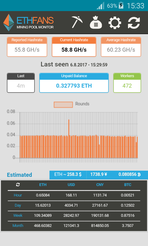 EthFans Mining Pool Monitor 1 0 2 APK Download - Android Tools Apps