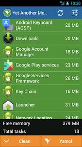 YAMC Memory Cleaner (Premium) 3.1.3.0 screenshot 1