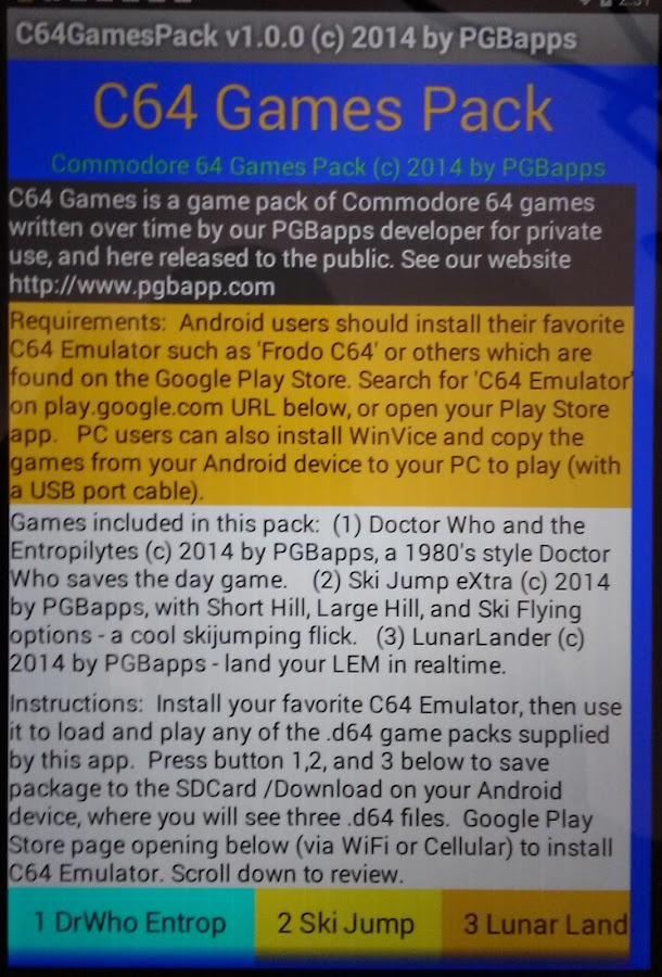 C64 Games Pack C64GamesPack APK Download - Android Arcade Games