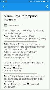 Nama Bayi Perempuan Islami + Artinya 2.4.0 screenshot 2