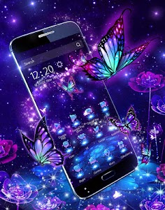 3D Purple Butterfly Theme 1.1.15 screenshot 1
