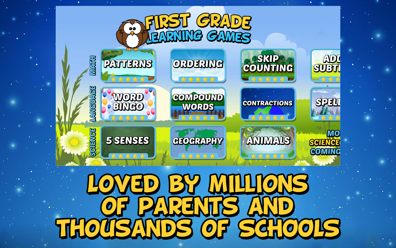 First Grade Learning Games (School Edition) 3.3 APK Download ...