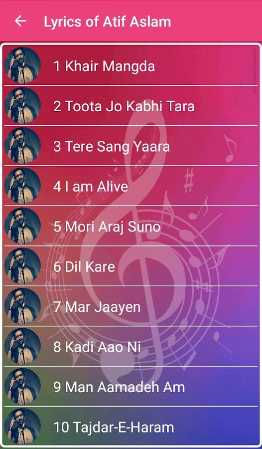 Best of Atif Aslam 1.0 APK Download - Android Music & Audio Apps
