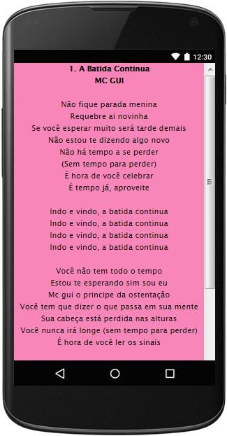 Mc Gui 23 Letras 1 0 Apk Download Android Music Audio Apps D9 até se esgotar suas forças. apk downloader