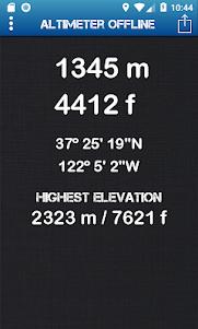 Altimeter Offline 3.91 screenshot 1