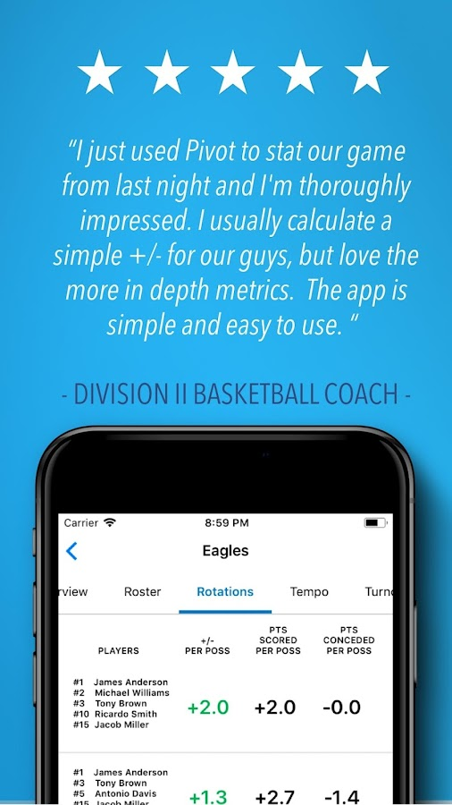 Pivot Basketball Stats Tracker 3 9 APK Download - Android