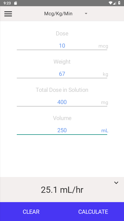 IV Infusion Calculator 3 1 APK Download - Android Medical Apps