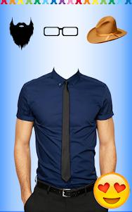 Men Shirt With Tie Photo Suit Maker 1.0.11 screenshot 1