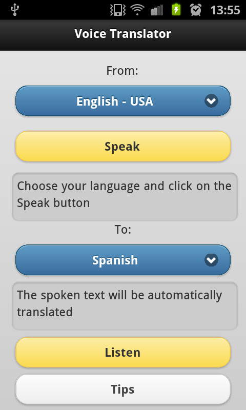 Voice Translator Free 1 6 6 APK Download - Android Travel