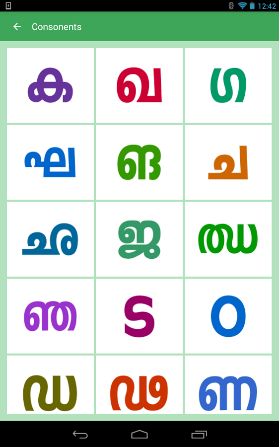 how to write malayalam alphabets
