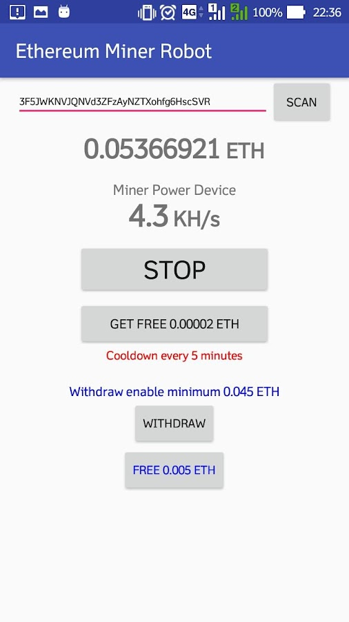 ETH Miner Robot 1 1 3 APK Download - Android Tools Apps