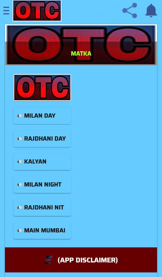 OTC Satta Matka Kalyan Mumbai ( open to close ) 2 APK
