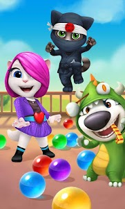 Talking Tom Bubble Shooter  screenshot 1