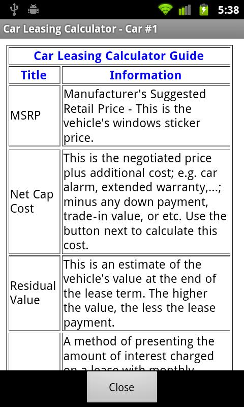 Car Lease Calculator Free  Apk Download  Android Finance Apps