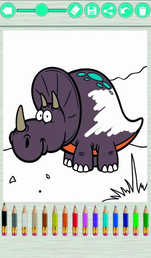 Dinosaurs Coloring Book 3101 Screenshot 1