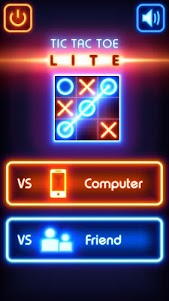 Tic Tac Toe glow - Free Puzzle Game 2.6 screenshot 1