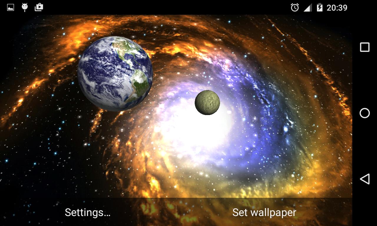 3D Galaxy Live Wallpaper 193 Screenshot 2