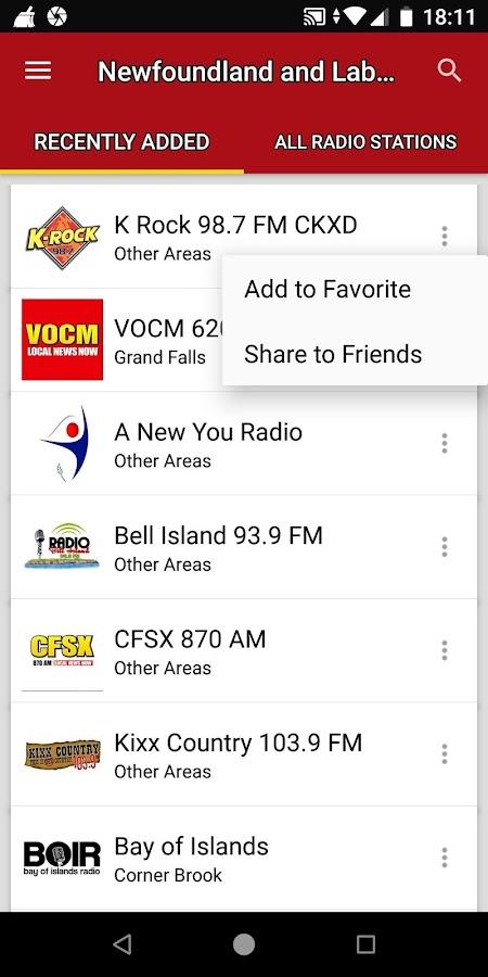 Newfoundland and Labrador Radio Stations - Canada 2 5 1 APK