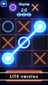 Tic Tac Toe glow - Free Puzzle Game 2.0 screenshot 2