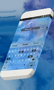 Dainty weather Keypad Theme 1.3 screenshot 3
