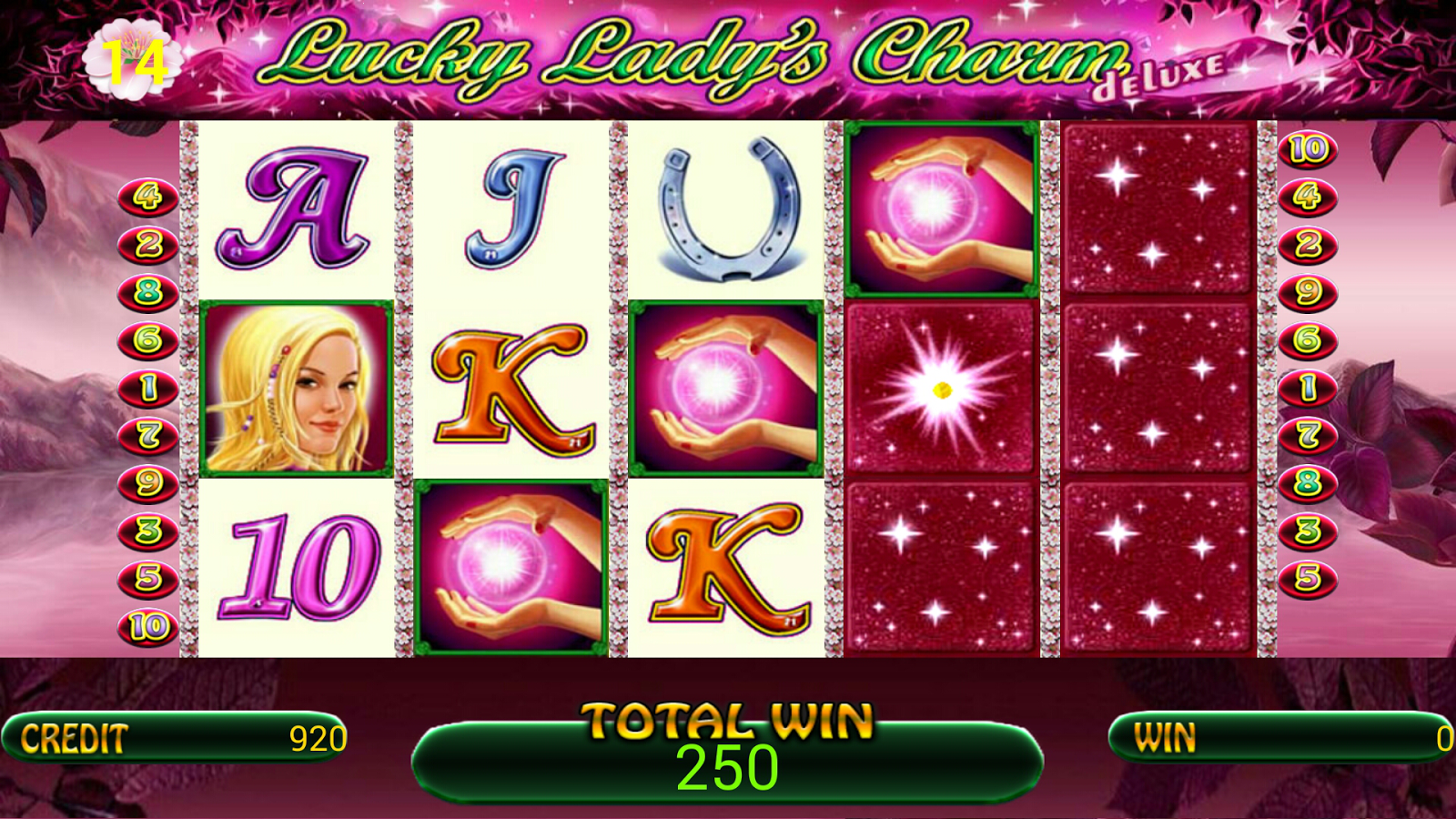 onlin casino lucky lady charm slot