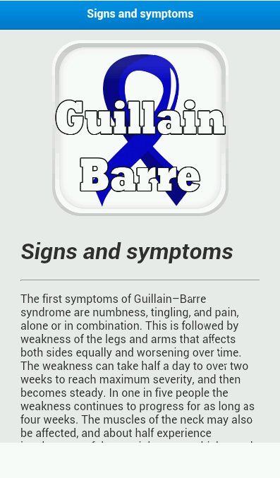 guillain barre syndrome descrption essay Guillain-barre syndrome essay 1651 words | 7 pages guillain-barre syndrome guillain-barre syndrome, or acute inflammatory demyelinating polyneuropathy, is a self-limiting disease.